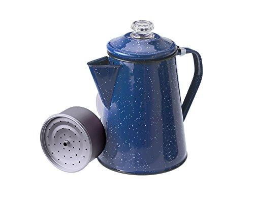 GSI Outdoors Kaffeekanne mit Perkolatoreinsatz 1,2 L Perkolator, blau, M
