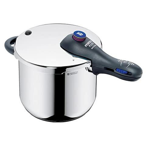WMF Perfect Plus Pressure cooker 6,5l with insert Ø 22cm Made in Germany internal scaling Cromargan stainless steel suitable for