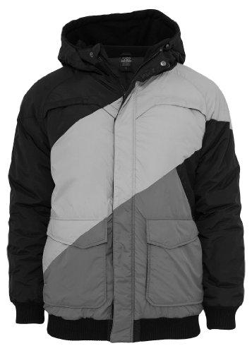 Urban Classics Zig Zag Fastlane Jacket, black/grey/grey Black/Grey/Grey