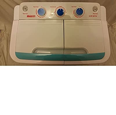 Portable 230v Twin 4.6kg Washing Machine With Electric Pump Ideal For Caravan Motorhomes Spin Dryer by LEISURE DIRECT ®