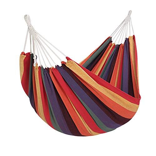Yorbay Hamaca de algodón 200 x 150 cm, 200kg de Capacidad de Carga, con Bolsa para Viaje Camping Jardín