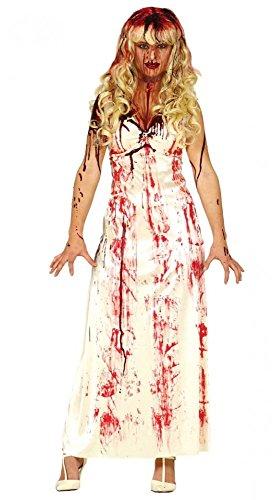 Blutbesudeltes Carrie Damen-Kostüm GUI Gr. 38-42 Prom Nightmare Zombie Braut Jungfrau Horrorfilm