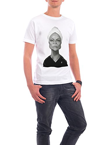 "Design T-Shirt Männer Continental Cotton ""Eartha Kitt"" - stylisches Shirt Film von Rob Snow Weiß"