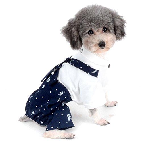 Zunea Puppy Paar Kleidung Outfit Weiche Baumwolle navy -