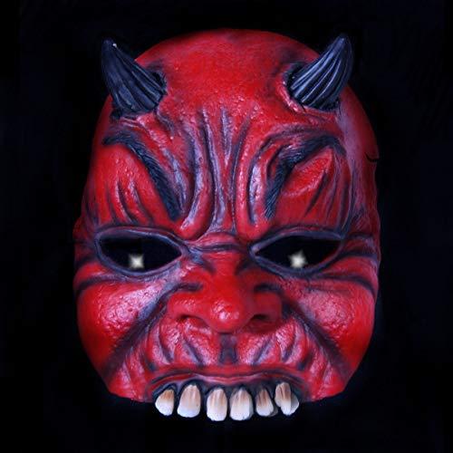 Jannes Premium Halloween Halb-Maske Latex für Erwachsene | Teufel | Horror-Maske für Halloween-Kostüm | Verschiedene Charaktere aus Horror- & Fantasy-Film