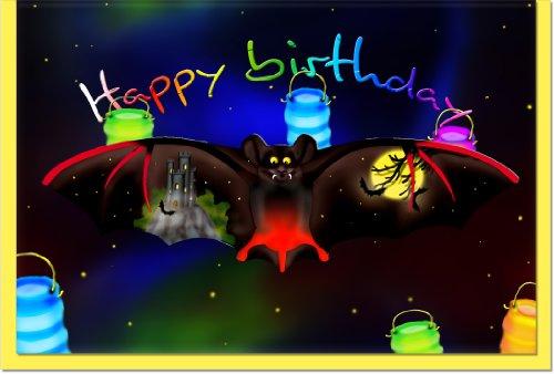 metalum Premium-Glückwunschkarte zum Geburtstag mit höllisch schönem Metall - Lesezeichen für Dracula - Fans (Happy Halloween-lesezeichen)
