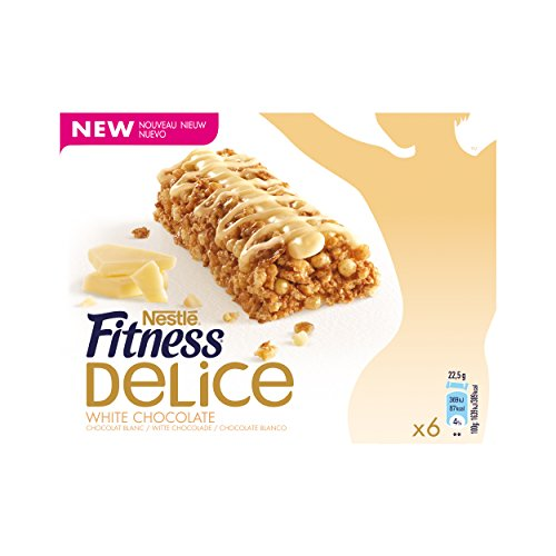 Fitness barres délice chocolat blanc 6x22.5g
