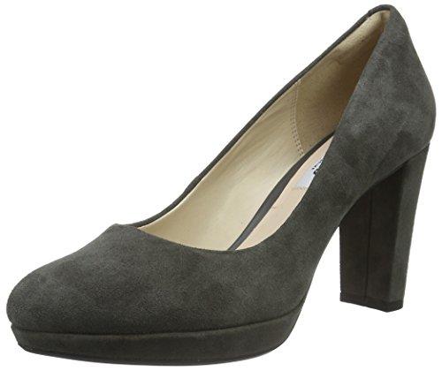 Clarks Damen Kendra Sienna Pumps, Grau (Grey Suede), 39.5 EU