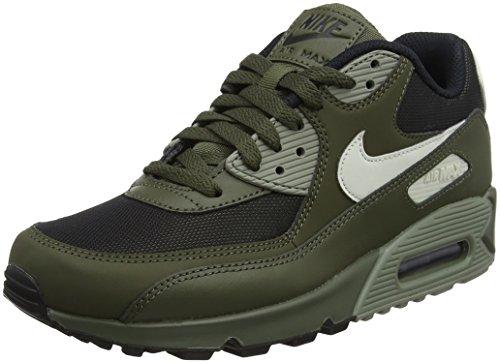Nike Herren Air Max 90 Essential Laufschuhe Mehrfarbig (Cargo Khaki/Light Bone/Dark Stucco/Schwarz), 40.5 EU