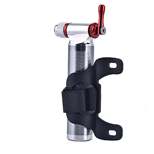 Dioche Fahrrad Pumpe CO2 Inflator, Tragbare Mini Leichte Aluminiumlegierung Mountainbike Rennrad Reifenschlauchpumpe -