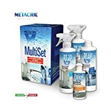 Metacril Complete Set for the maintenance of Box Boccia. Ideal for Shower Box of All Brands (Teuco, Albatros, NOVELLINI, Glass, hafro, etc etc.) Immediate Dispatch