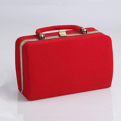 Eysee , Damen Clutch Rot schwarz 20.5cm*10.5cm*13cm rot