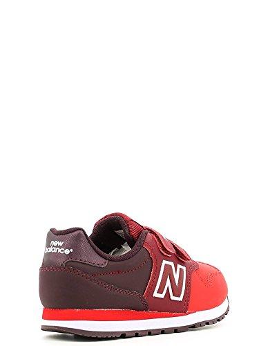 New Balance KV373, Baskets mode mixte enfant Rouge