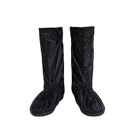 SWISSWELL Unisex Regenüberschuhe Outdoor Wasserdichte und Mehrweg Rutschfeste Schuhüberzieher Regenstiefel mit Reflektoren für trockene, saubere Schuhe auch bei Regen Schnee oder Staub, Schwarz M