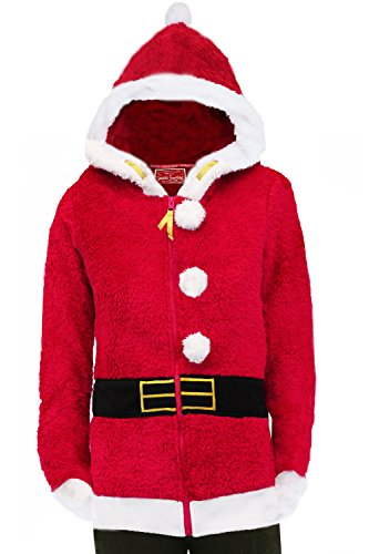 Acquire Fashion -  Felpa con cappuccio  - Felpa - Maniche lunghe  - Donna Mrs Claus 44