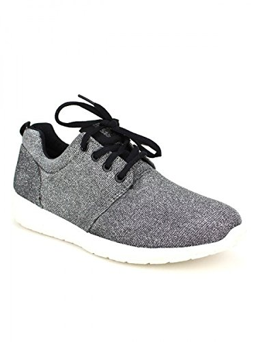 Cendriyon, Basket Toile Grise NIGA Chaussures Femme Gris