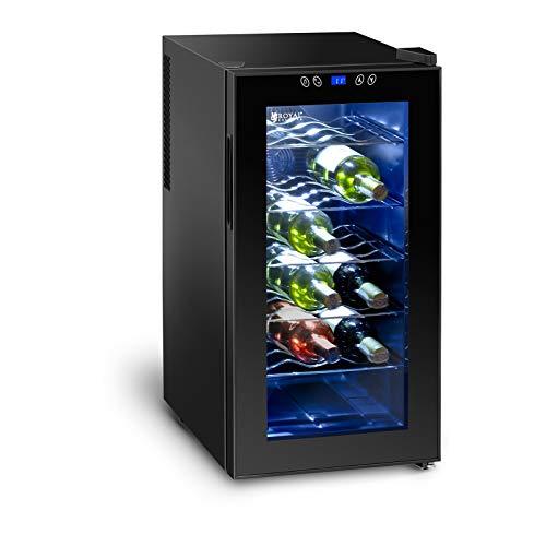 Royal catering cantinetta frigo per vino cantina vini rcwi-52l (doppi vetri, 50 litri, 18 bottiglie, 70 w, peltrier)
