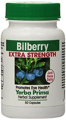 Yerba Prima, Bilberry Extra Strength, 160 mg, 50 Capsules by Yerba Prima