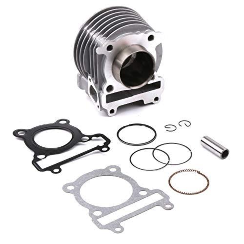 Semoic für BWS X 125 Cygnus 125 52,4Mm Zylinderkit mit Kolben Zylinder Block Pin CNC Motorrad Roller Zubeh?R