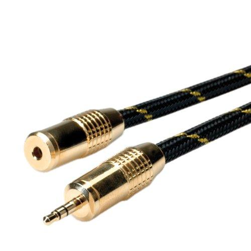 ROLINE GOLD Audio Verlängerungskabel (Audiokabel 3,5 mm, St - Bu, 5 m) Gold 3,5 Mm Audio