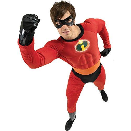Rubie's Offizielles Mr.-Incredible-Kostüm für Erwachsene-Standardgröße bis 107cm Brustumfang
