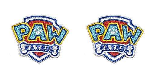 assic Paw Patrol Logo Cosplay Badge gesticktes Eisen oder aufgesetzte Aufnäher Patch 2er Pack Geschenk-Set ()