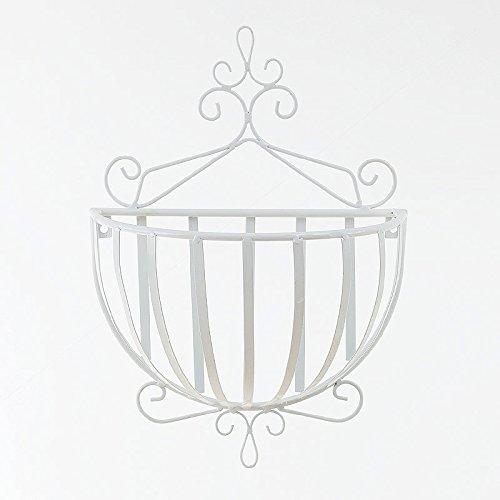 ZH Deutsch - Stil Metall Wand - Halbkreisförmige Dekorative Körbe Hängenden Korb Balkon Blumentöpfe Wand Schmiedeeisen Racks,A