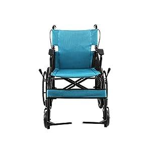 Shisky Aluminum alloy wheelchair Home portable wheelchair car Older scooter lightweight folding Easy storage