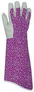 Briers Damen, Lila Abstrakt Dots Topfhandschuh Gartenhandschuhe, Größe M