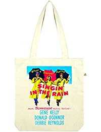 Top Quality 'Recycled' Singing in the Rain Shopper Tote Bag White