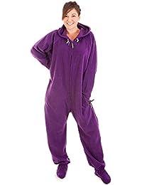 Forever Lazy Unisex Footed adulto Onesie pijama de una pieza
