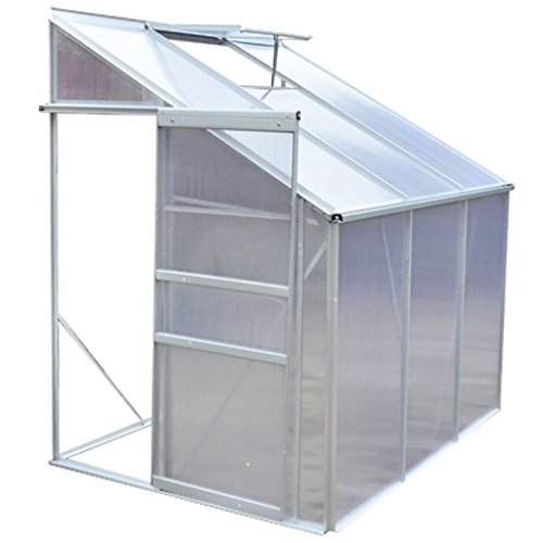 Serre de jardin en profilé d'aluminium anodisé 185 × 140 × 195 cm