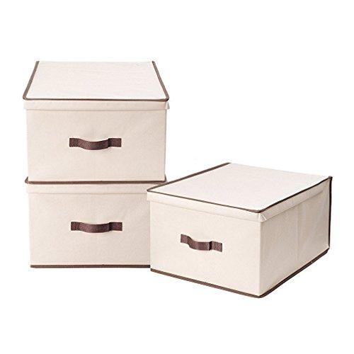 StorageManiac scatole di immagazzinaggio pieghevole con coperchio, extra-large size Pack 3