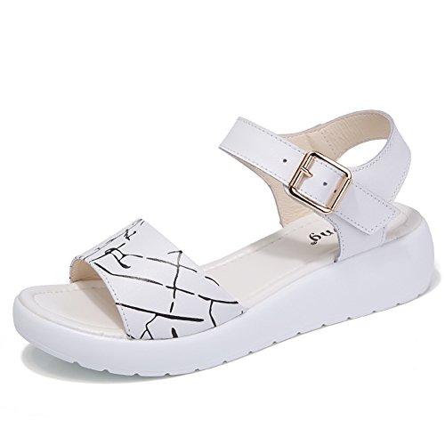 Signora,Spessa,Medio Heels,Sandali Antiscivolo/Una Parola Con,Sandali Casuali A