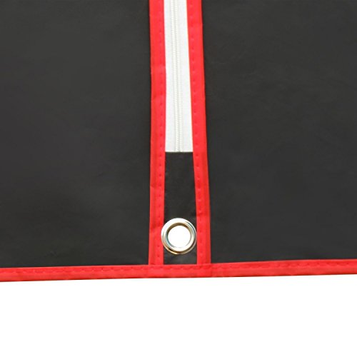 Hangerworld - Fundas Protectoras De Ropa, Impermeables, Negro Con Costuras De Colores, 100 cm, 12 Unidades