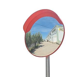 ECM-60-O2-o Convex polycarbonate traffic mirror, Orange color, diameter 60cm (24