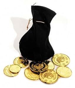 Bourse Pirate et 10 Pièces d'Or - Fête et Anniversaire Pirate -