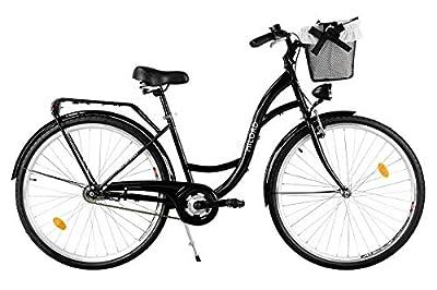 Milord. 2018 Komfort Fahrrad mit Korb, Hollandrad, Damenfahrrad, 1-Gang, Schwarz, 28 Zoll