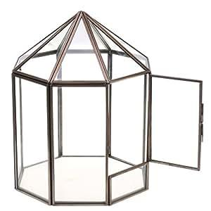 magideal haus form geometrisches glas terrarium box glas sukkulente pflanzgef deko metall. Black Bedroom Furniture Sets. Home Design Ideas