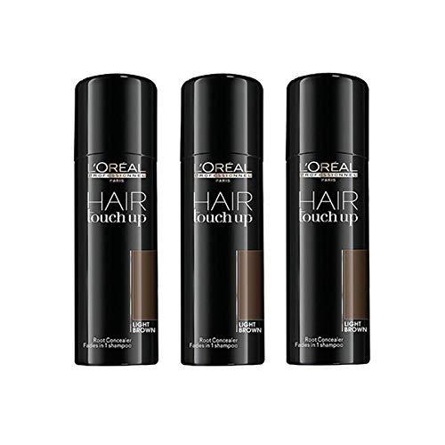 L'Oréal Professionnel Hair Touch Up Light Brown Set 3 x 75ml