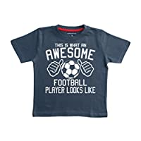 Edward Sinclair This What an Awesome Football Player Looks Like Navy Boys T-Shirt in Size 9-11 Years with A White Print T-Shirt