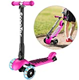 Banne 3 Wheel scooter Height Adjustable Foldable Smooth Riding Lean to Steer Kick
