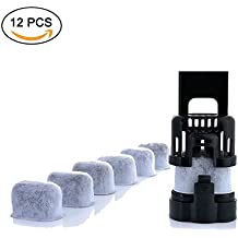 Winterworm - Juego de 12 filtros de agua de carbón vegetal, filtros de agua de