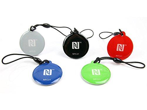 NFC21 68347  NFC Anhänger Style NTAG 216 / 5 Stück/ 5 Farben Bluetooth-anhänger