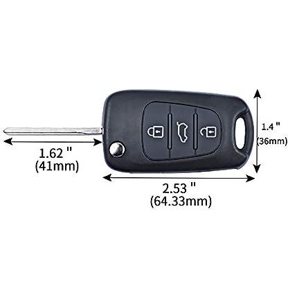 Hyundai-Schlssel-Gehuse-OTUAYAUTO-Schlssel-mit-3-Tasten-und-Klappschlssel-fr-I10-I20-I30-Ix35-I40