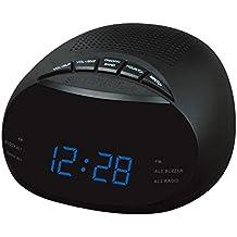 Réveil des stations de radio de rétro-éclairage LED de radio d'horloge numérique à deux AM horloge FM d'horloge radio , blue