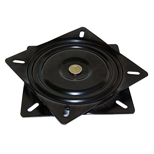 Emuca 3196514 um 360 Grad drehbare Unterlage/Basis für Möbel/Fernseher/Monitor aus Schwarzem Stahl