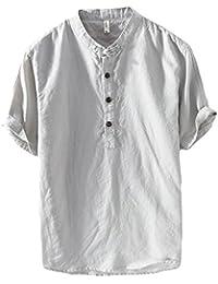 T e shirt Grigio polo camicia Uomo camicie Amazon it lino qH0IwS