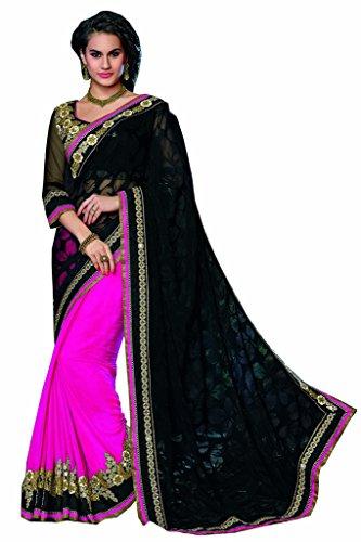 Mahotsav Women's Net,Brasso,Chiffon Art Silk Sarees ( 8410 F )  available at amazon for Rs.1983