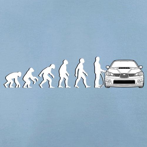 Evolution of Man - Impreza Fahrer - Herren T-Shirt - 13 Farben Himmelblau